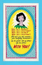 NOVELTY - RED LETTER POSTCARD  -  SWEETHEART CARD - REF. HR-17 NO. 21  -  C 1940