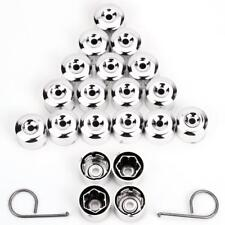 17mm CHROME Wheel Nut Covers with removal tool fits DS (VWC)