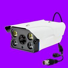 Cctv Cámara HD 1080P 4 LED de arreglo Grande 1200TVL CCD Seguridad Día Noche Aire Libre IP65