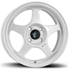 """4-New 15"""" AVID1 AV08 AV-08 Wheels 15x6.5 4x100 35 White Rims"""
