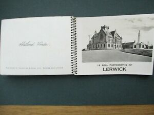 SHETLAND,LERWICK 12 REAL PHOTOGRAPHS IN SPIRAL BOUND BOOKLET