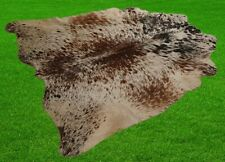 "New Cowhide Rugs Area Cow Skin Leather 24.58 sq.feet (59""x60"") Cow hide A-703"