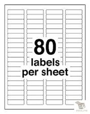 40000 Address Labels Laser Ink Jet 80UP 80 labels Per Sheet 1.75x0.5 500 Sheets