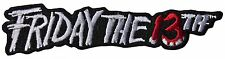 """Friday the 13th Movie Name Logo 4"""" Wide Embroidered Patch"""