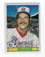 MICKEY MAHLER 1979 TOPPS BASEBALL AUTOGRAPHED CARD 331 ATLANTA BRAVES