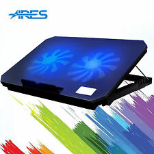 2 Fans 2 USB Portable Notebook Laptop Cooler Adjustable Stand Cooling Pad 15""