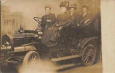 RPPC Car Studio Photo Automobile San Francisco? Edwardian 1910s Vintage Postcard