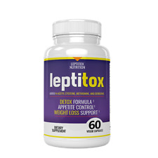 1 Leptitox Bottle (60 Count) Detox Formula Appetite Control Weight Loss NEW SEAL