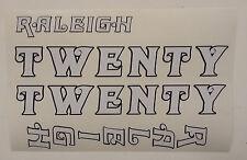 "Raleigh ""TWENTY"" bike decal/stickers, set of 4"