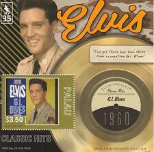 Palau 2012 MNH Elvis Presley Classic Hits 35th Anniv GI Blues 1v S/S 1960