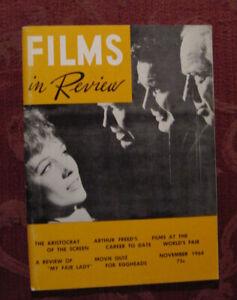 RARE FILMS in REVIEW Magazine November 1964 Arthur Freed Elsie Ferguson