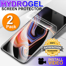 HYDROGEL Screen Protector Samsung Galaxy S20 Ultra S10 S9 S8 Plus + 2 Pack