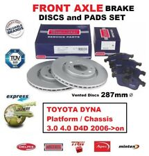 FRONT BRAKE PADS + DISCS for TOYOTA DYNA Platform / Chassis 3.0 4.0 D4D 2006->on