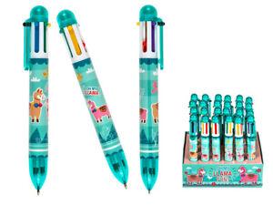 Llama Pen -  Multi Colour Selector Pen - 6 Different Colours