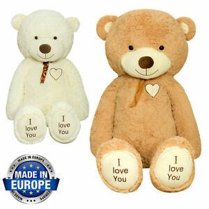 TEDBI Large Teddy Bear 120/140/160/200cm Giant Big Soft Plush Toy Gift