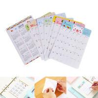 13Set/Set 2018 Kalender Sticker Notebook monatliche Kategorie Sticker Planner  X