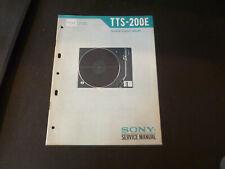 Original Service Manual Schaltplan Sony TTS-200E