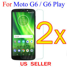 2x Clear LCD Screen Protector Guard Cover Shield For Motorola Moto G6 / G6 Play