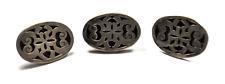 Filigree Oval Cufflinks 22mm x 31mm 3- Sterling Silver Espinosa Large Scroll