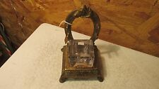 Antique Cast Iron Ink Well Horse & Horse Shoe