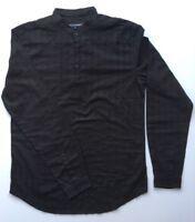 Mens Kurta Style Shirts Mandarin - Grandad Collar Shirt 100% Cotton Embroidery