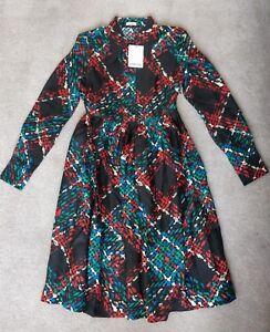 Manoush Dress Robe Longue Silk Tweed Size 8 -10 RRP £400+