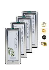 Pressé à Froid Huile D'Olive Extra Vierge Crète 4 X 5 Liter Acide 0,3 %