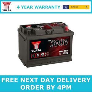 Yuasa YBX3096 Car Battery 12V Sealed Lead Acid 4 Yr Warranty Type 096