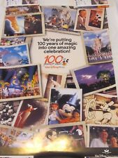 WALT DISNEY WORLD 100 YEARS OF MAGIC CELEBRATION TRAVEL INDUSTRY POSTER 24 X 36