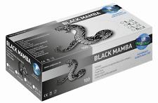 Latexhandschuhe,schwarz, BLACK MAMBA, Unigloves, puderfrei, 100 Stk./Box