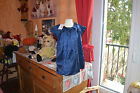 robe neuve doublee repetto bleu royal 45% soie taille 4 ans