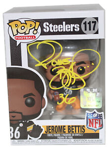 Jerome Bettis Autographed Pittsburgh Steelers NFL Funko Pop #117 BAS 31211