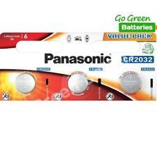 3 x Panasonic CR2032 3V Lithium Coin Cell Battery 2032
