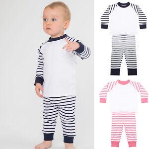 Baby Toddler Pyjama Set Pyjamas PJs Childrens Boys Girls Long Sleeve Trouser Set