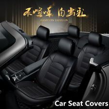 Universal Luxury Full Seat PU Leather Car SUV Seat Cover Cushion Pad 6D Surround