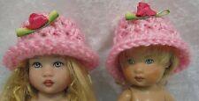Ellery & Riley Kish Doll Clothes Crochet HAT #03 Pink w/Rosebud Handmade CAP
