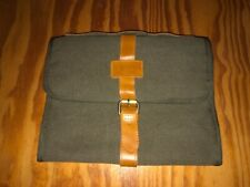 LaVieVert Travel Men's Hanging Toiletry Roll Bag NEW Canvas & Leather