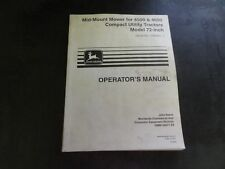 John Deere Mid Mount Mower For 4500 4600 Tractors Operators Manual 72 Inch