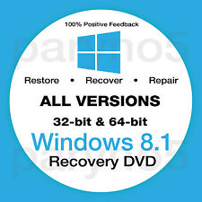WINDOWS 8.1 HOME 64 Bit Recovery Install Reinstall Boot Restore DVD Disc Disk