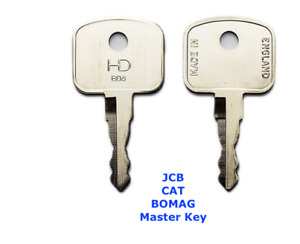 2 x BOMAG  JCB  Master  Plant   Excavator  Digger  Dumper Telehandler  Keys