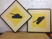 Vintage Fibreglass Military Sign Made In Poland Industrial Wall Decor TANK