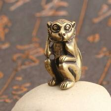 """1.4"""" Collection Curio Chinese Bronze 12 Zodiac Animal Lucky Monkey Small Statue"""