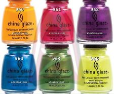 China Glaze Nail Polish ISLAND ESCAPE Collection 6 Colors SET