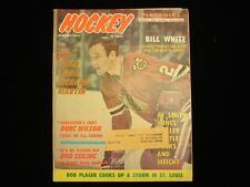 January 1972 Hockey Pictorial Magazine - Bill White Cover