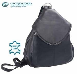 Damen Rucksack, Leder Tasche, Cityrucksack,  Backpack, Nappaleder, 500gr leicht