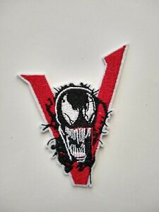 """Marvel's Venom Iron On Embroidered Patch.  3.5"""" x 2.75"""".  Ships from USA."""