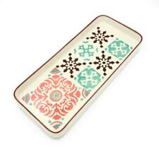 Hand-painted Portuguese Ceramic Large Tart Tray - 4 Colors Available