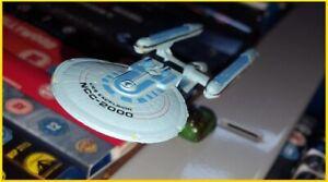 Star Trek Micro Machines USS Excelsior NCC-2000 Starship - custom magnetic stand