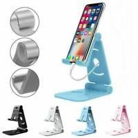 Universal Adjustable Mobile Phone Holder Stand Desk Swivel Foldable Portable~