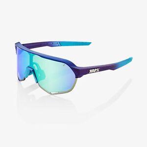 100% Percent Sunglasses S2 Matte Metallic Into the Fade Blue Topaz Mirror Lens